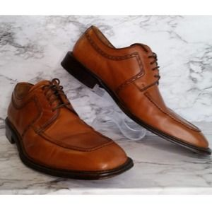 Magnanni Montana Cognac Men's Square Toe Shoes 9.5